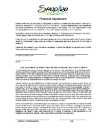 Financial Agreement
