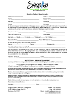 Nutrition Patient Questionnaire
